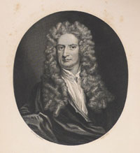 Frontispiece from David Brewster's Memoirs after painting by Godfrey Kneller.