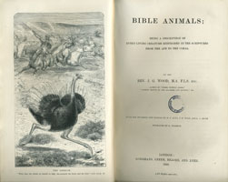 being a description of every living creature mentioned in the scriptures from the ape to the coral / by J.G. Wood (London, Longmans, Green, Reader, and Dyer, 1869) STORE 179:28
