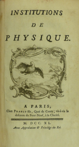 Chatelet Institutions title page