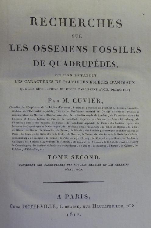 Cuvier tome 2 title