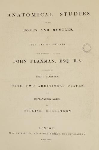 Flaxman title page