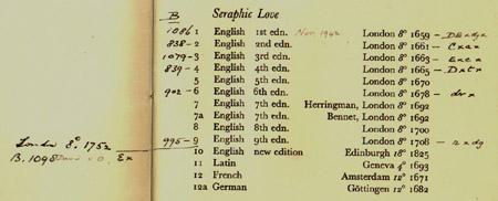 a handlist of his works / G.L.K. [i.e. Sir Geoffrey Keynes] for & from J.F.F. [i.e. John Farquhar Fulton] (London, June 1932) STORE F.16.