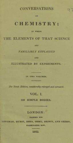 Marcet Chemistry title page