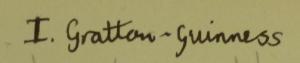 Young Grattan signature