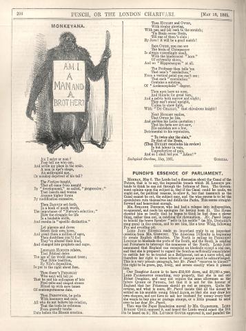 or the London Charivari vol. 40, 18 May 1861, p. 206. CUL T992.b.1.