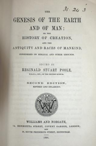 Williams and Norgate, 1860. CUL 31.24.3