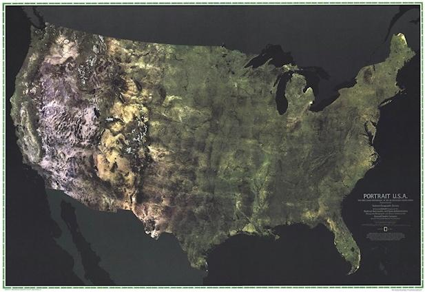 Portrait U.S.A. Created by NASA and GE for National Geographic, 1976