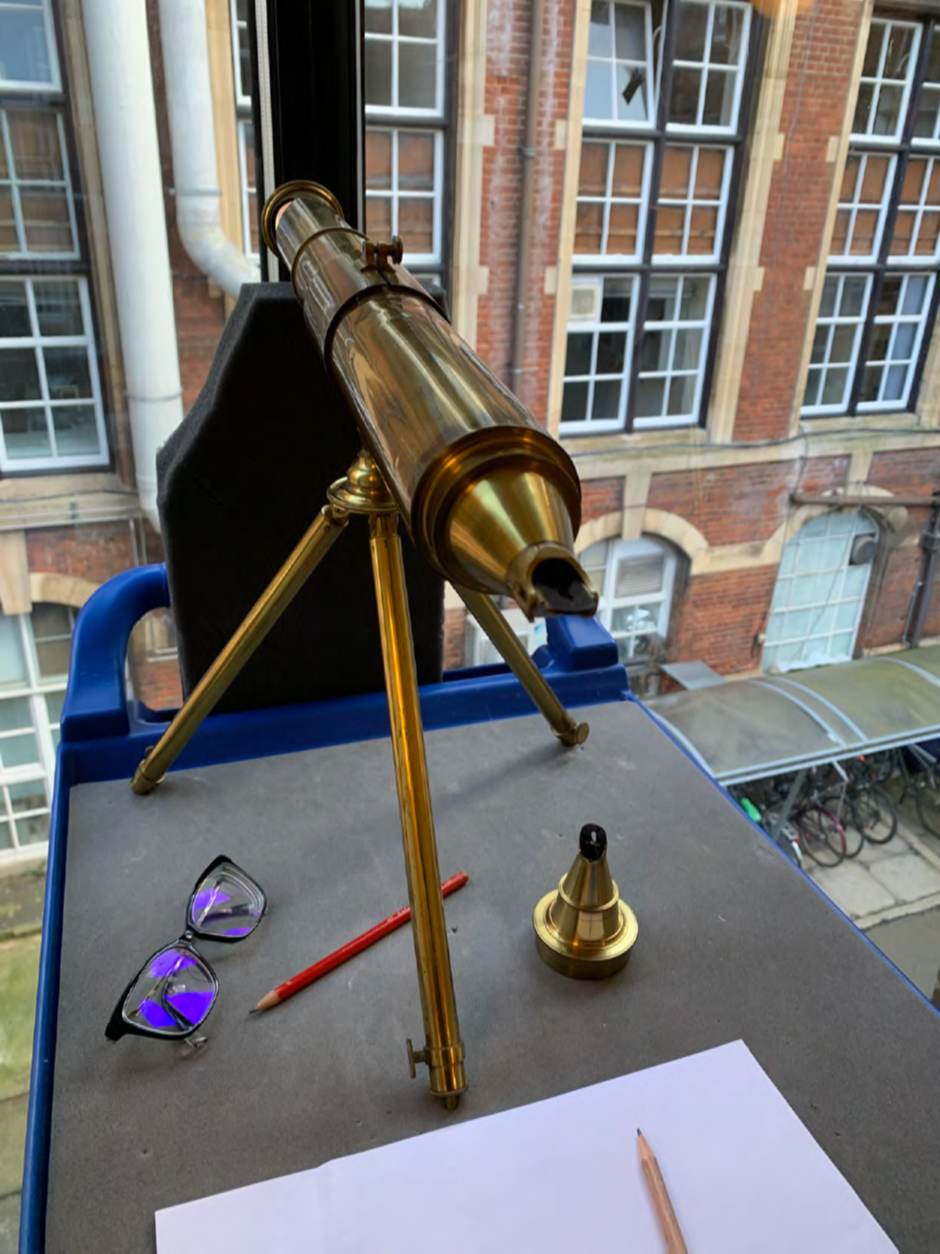 Patent Graphic Telescope by Cornelius Varley, London, 1840. Wh.0069. Whipple Museum of the History of Science. Photo courtesy of X. Wen