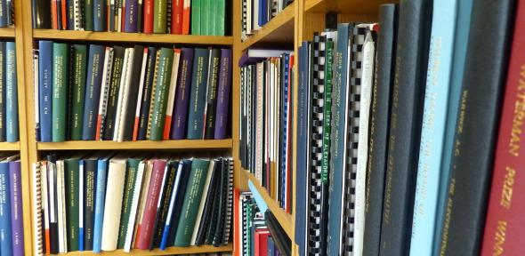 Dissertations and theses in librarian's office
