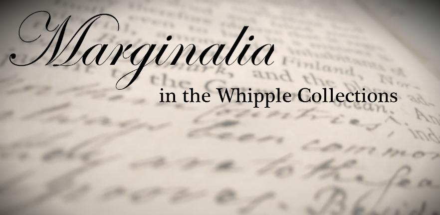 Marginalia banner for website