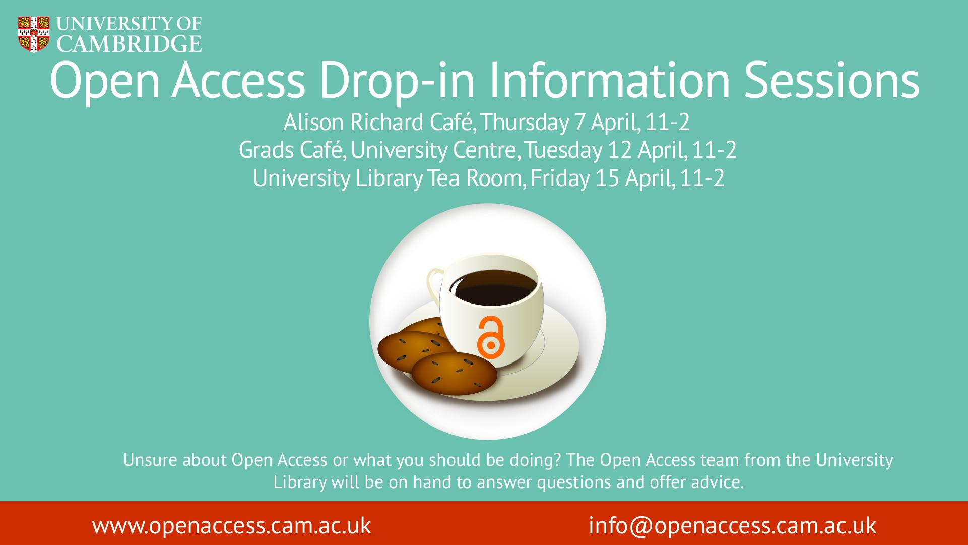 Open Access drop-in sessions