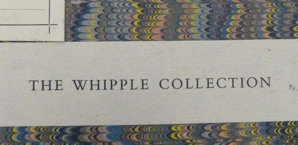 Bookplate for the Whipple collection